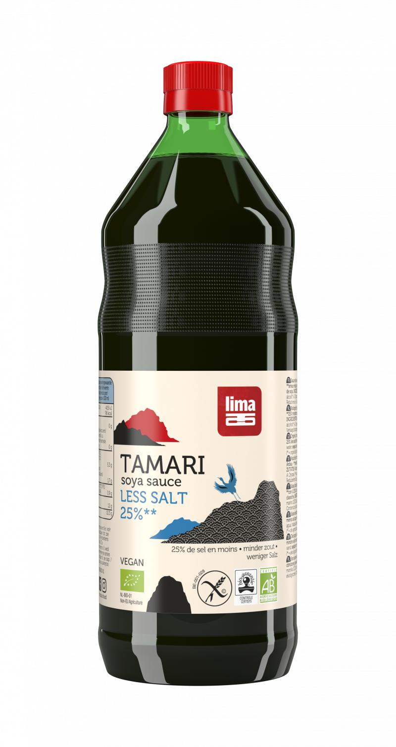 Tamari 25% less salt soja saus 500ml
